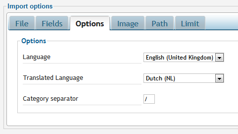 Multi-language category translation settings